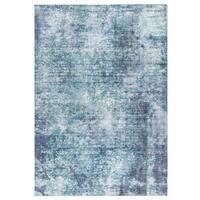 M.A.Trading Hand Woven Akron Aqua/Blue (India) - 5'x8'