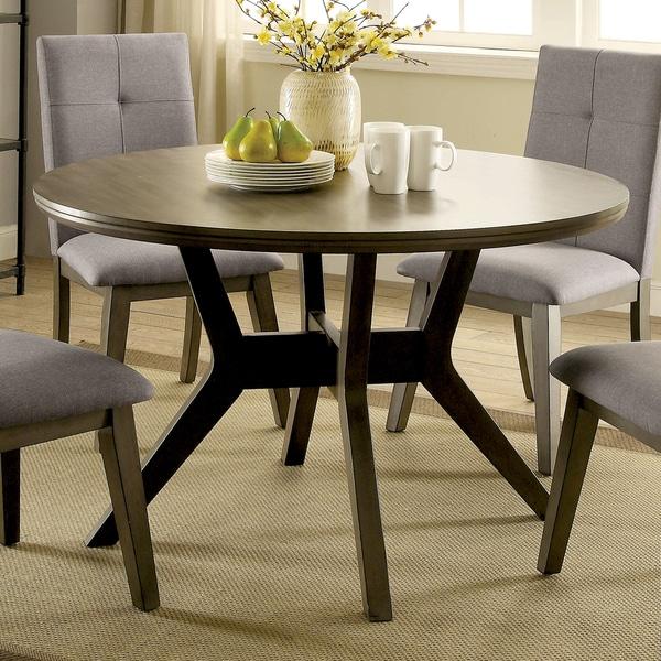 Copper Grove Klisura Mid Century Modern Angular Grey Round Dining Table On Free Shipping Today 14366222