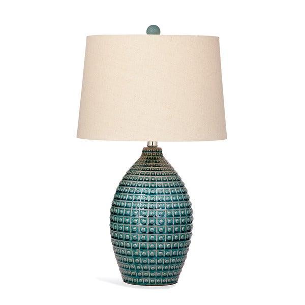 Hurst 26-inch Blue Ceramic Table Lamp