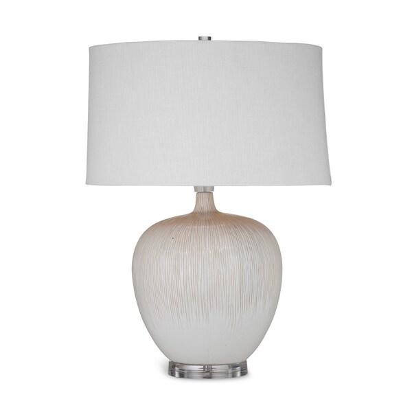 Arcadia 26-inch Tan Ceramic Table Lamp