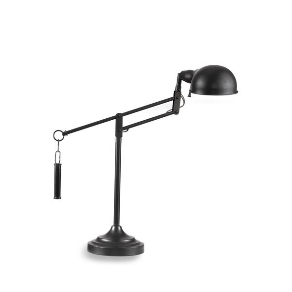London 23-inch Black Metal Task Lamp
