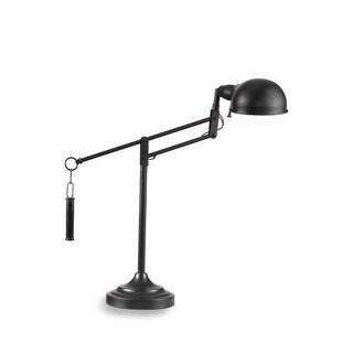 London 23-inch Black Metal Task Lamp