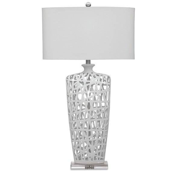 Erowin 35-inch White Ceramic Table Lamp