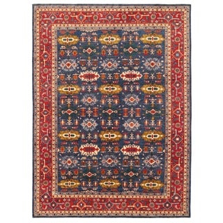 Herat Oriental Afghan Hand-knotted Vegetable Dye Turkoman Wool Rug (8'9 x 11'9)