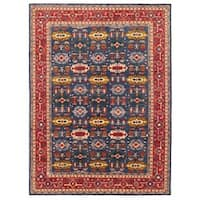 Herat Oriental Afghan Hand-knotted Vegetable Dye Turkoman Wool Rug (8'9 x 11'9)