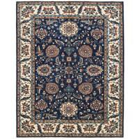 Herat Oriental Afghan Hand-knotted Vegetable Dye Oushak Wool Rug (9'1 x 11'7)