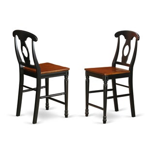 Kenley Counter Height Stools With Wood Seat (Set of Two)