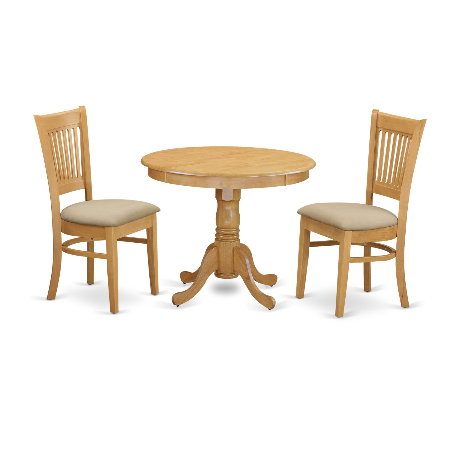 3-piece Kitchen Table and 2 Dining Chairs Dinette Set (Mi...