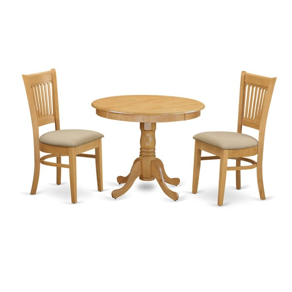 3-piece Kitchen Table and 2 Dining Chairs Dinette Set