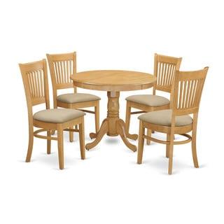 5-piece Dining Room Set in Oak Finish