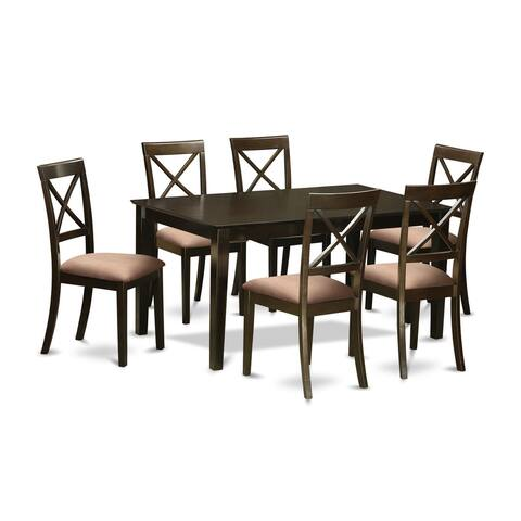 Capri Cappuccino Rectangular 7-piece Dinette Dining Set