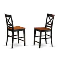Quincy Counter Height Stools With X-Back (Set of Two) - N/A
