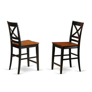 Quincy Counter Height Stools With X-Back (Set of Two)