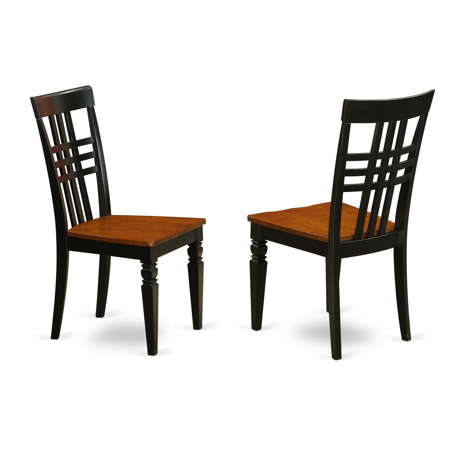 Logan Dining Chair with Wood Seat (Set of Two) (Black Che...