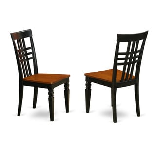 Logan Dining Chair with Wood Seat (Set of Two)