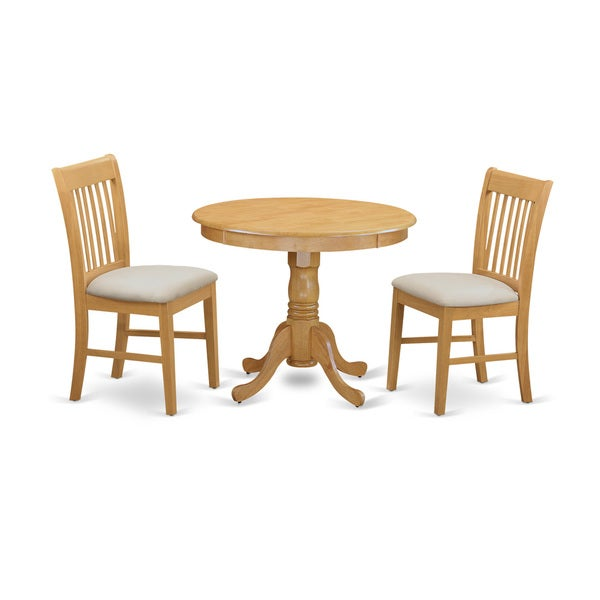 ANNO3-OAK 3-piece Table and Chair Set - Kitchen Table and 2 Dining Chairs