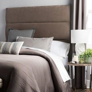 Humble + Haute Hereford King Size Light Grey Velvet Upholstered Headboard