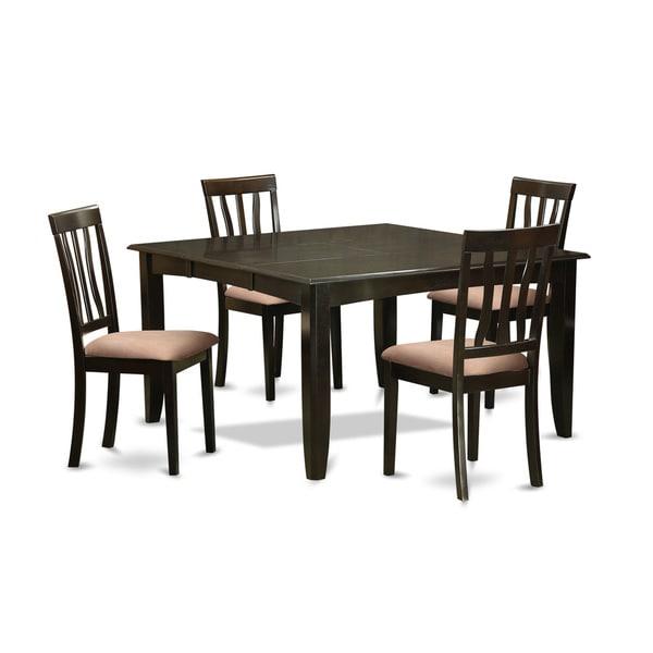 Parfait Cuccino Extendable Square Dining Table Set 5 9 Pieces