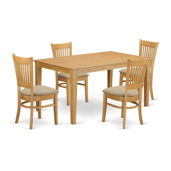 Oak Kitchen Tables And Chairs Sets: Shop CAVA5-OAK 5-Piece Small Kitchen Table Set