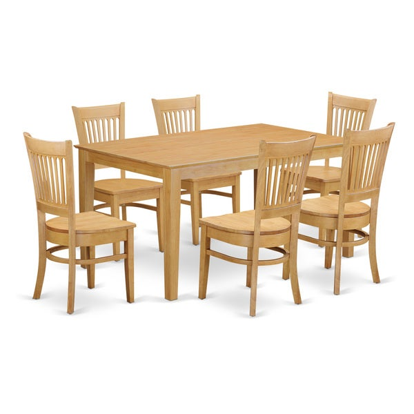 Oak Kitchen Sets: Shop CAVA7-OAK 7-Piece Dining Room Set