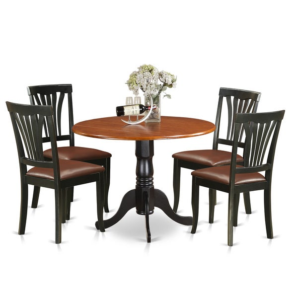 Modern 5pc Dining Table Set Kitchen Dinette Chairs: Shop DLAV5-LC 5 PC Dublin Kitchen Table Set-Dining Table