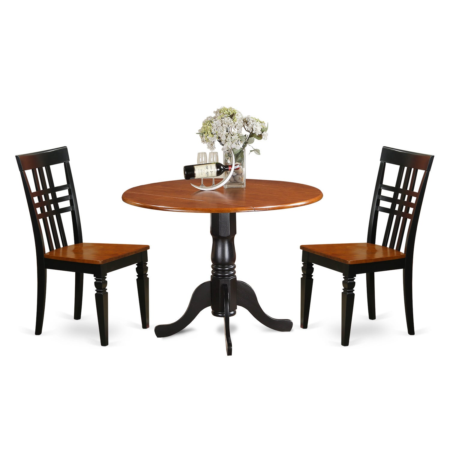 Dllg3 w 3 piece dining room table set with one dublin dining room dllg3 w 3 piece dining room table set dzzzfo