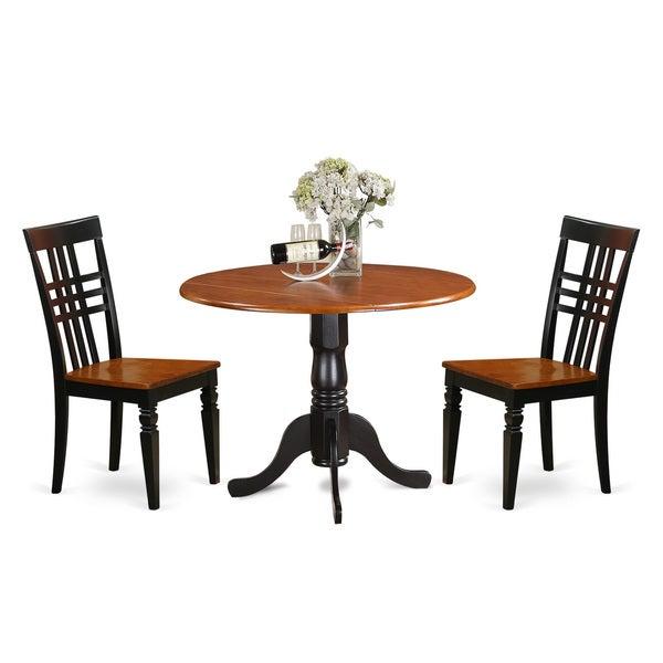Dllg3 w 3 piece dining room table set with one dublin for 3 piece dining room table