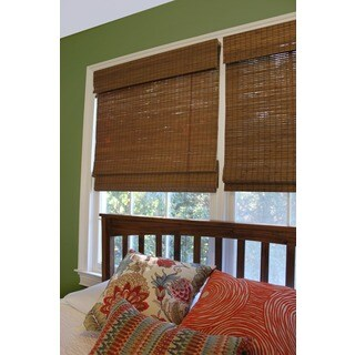 Radiance, Cape Cod Collection Bamboo Roman Shade Maple Finish