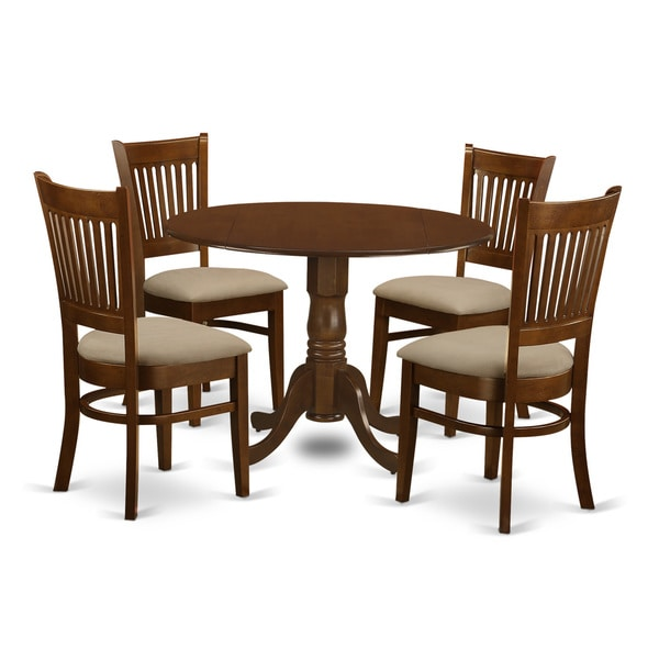 Whitley Cappuccino 5 Piece Dinette Set: Shop Espresso Wood Dublin 5-piece Dinette Kitchen Set