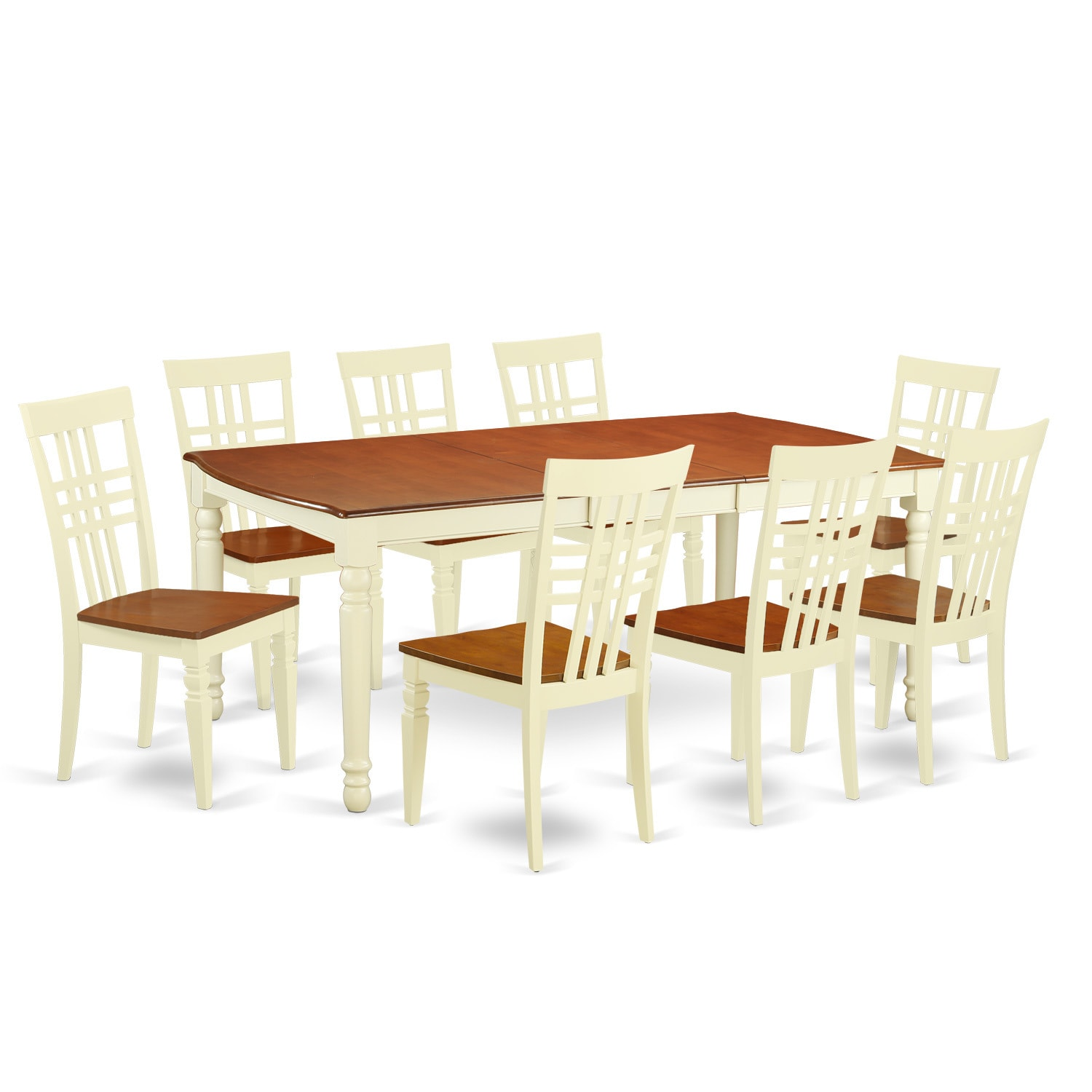 DOLG9-W 9-piece Kitchen Table Set with One Dover Table and Eight ...