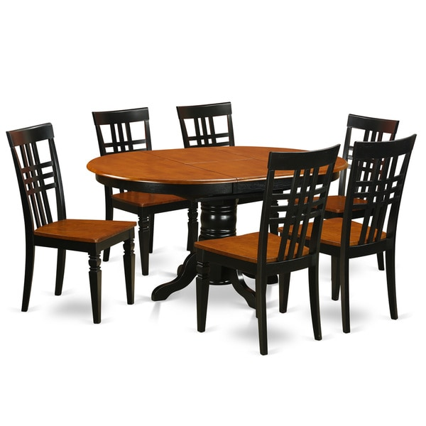 7 piece dinette set kelg7w 7piece dinette set with one kenley table and six dining room shop
