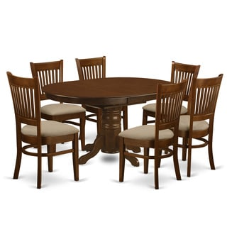 Kenley Espresso Extendable Oval 7-piece Dining Set