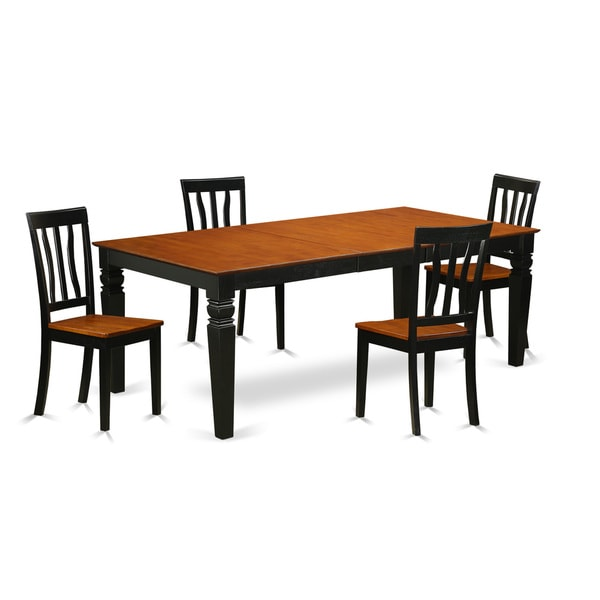 Cherry Kitchen Table And Chairs: Shop LGAN5-BCH 5 Piece Kitchen Table Set With One Logan