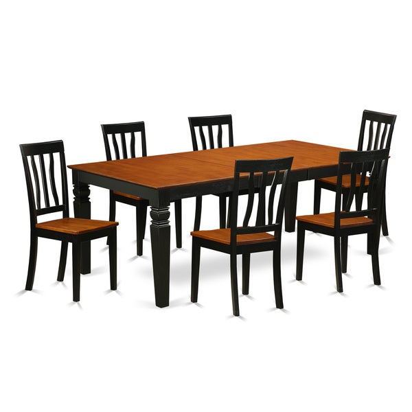 LGAN7 BCH 7 Piece Kitchen Table Set With One Logan Dining Table And 6