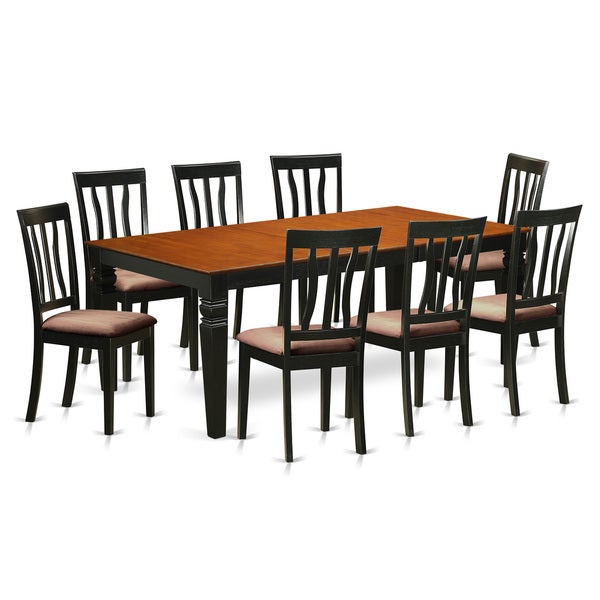 9-piece Dining Set with 1 Logan Dining Table and 8 Dining Chairs ...
