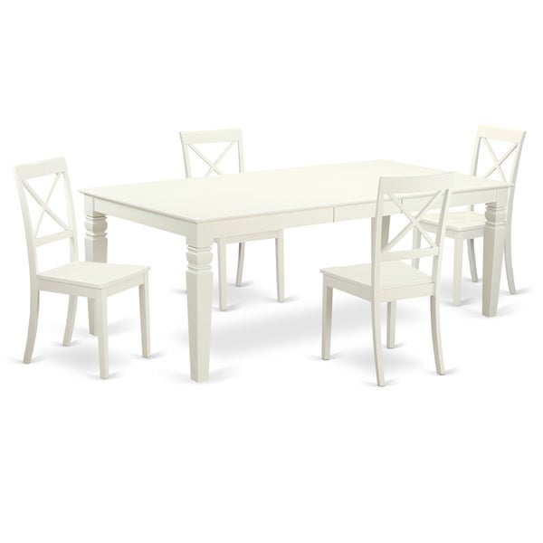 Mission Style Dining Room: Shop Mission-Style Off-White Wood Extendable Dining Set