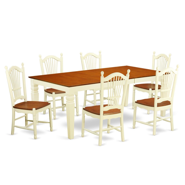 7-piece Dinette Set in Off-white | eBay