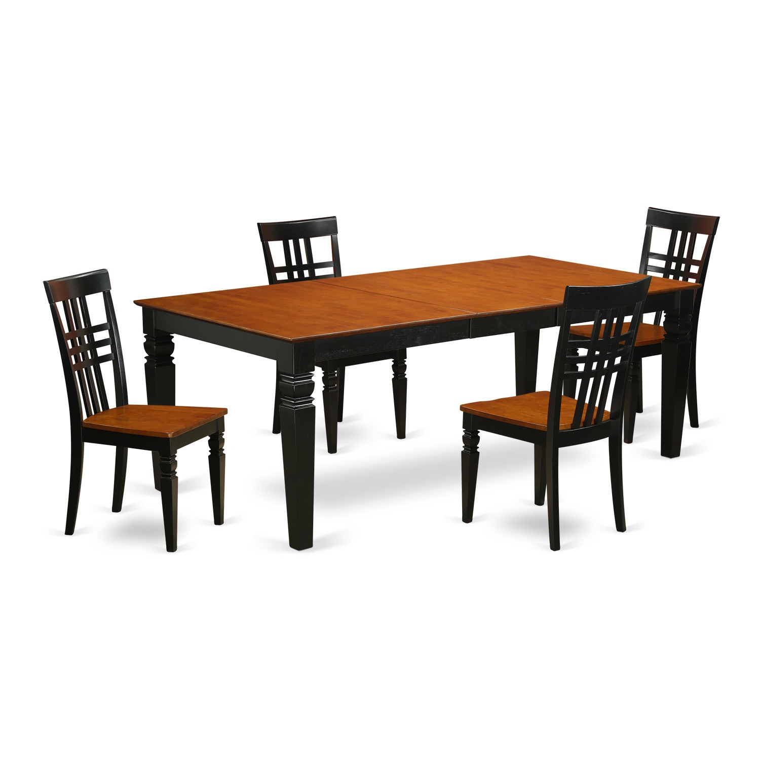 LGLG5-W 5 PC Table and chair Set (Black & Cherry), Size 5...