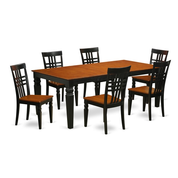 Logan Wood Extendable Dining Table and 6 Chairs Set