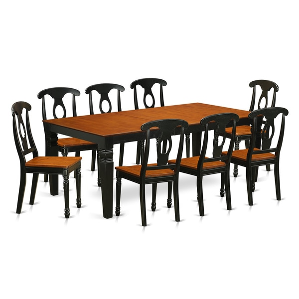 LGKE9 BCH 9 piece Table and Chair Set With One Logan  : LGKE9 BCH 9 Piece Table and chair set with one Logan dining table and 8 dining room chairs in Black Cherry a51aa080 b189 471d bdc2 6cba260c148a600 from www.overstock.com size 600 x 600 jpeg 32kB