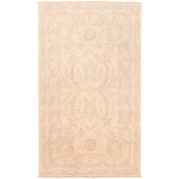Herat Oriental Afghan Hand-knotted Vegetable Dye White Wash Oushak Wool Rug (2'10 x 4'9)