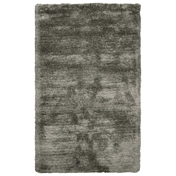 Hand-Tufted Commons Oatmeal Solid Polyester Area Rug (9' x 12')