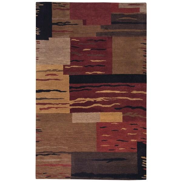 Hand-tufted Mojave Multi Block Wool Area Rug (8' x 10')
