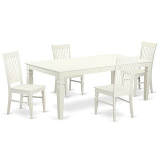 LGWE-LWH-W Linen White Finish Dining Room Set