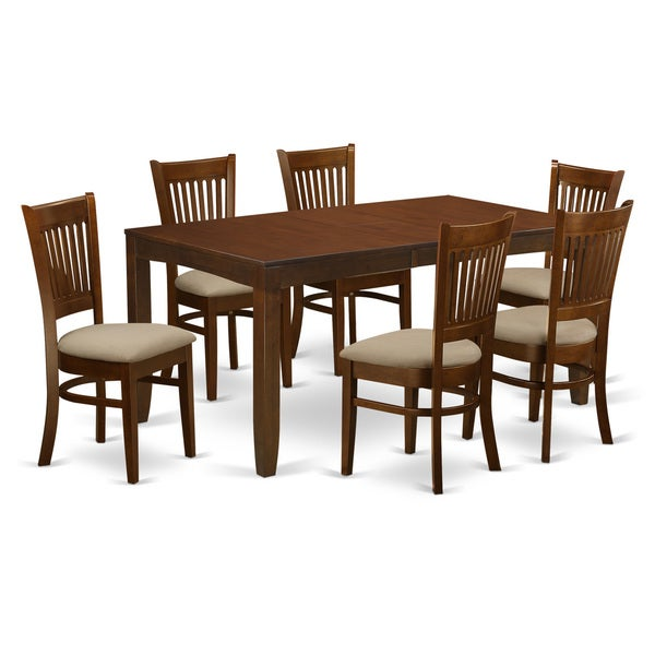 Wooden Importers Lynfield 6 Piece Dining Set: Shop LYVA7-ESP 7-Piece Lynfield Dining Table With One 12