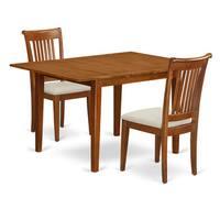 Saddle Brown Milan 3-piece Dining Table Set