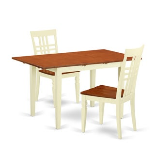 NOLG-BMK-W Small Hardwood Kitchen Table Set