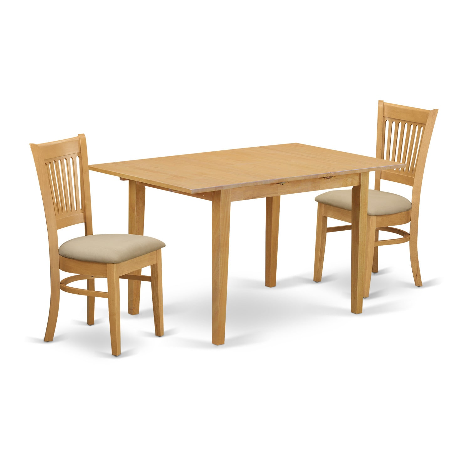NOVA3-OAK 3-Piece Dining room set - small dining table an...