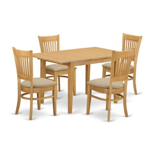 Nova 5-piece Kitchen Dinette Table and Chairs Set