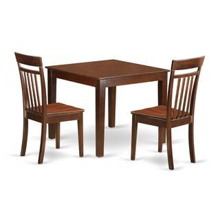 OXCA3-MAH 3 Piece Mahogany Table and Chair Set